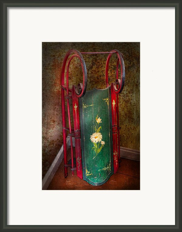 Toy - Sled - Fun Memories With My Sled  Framed Print By Mike Savad