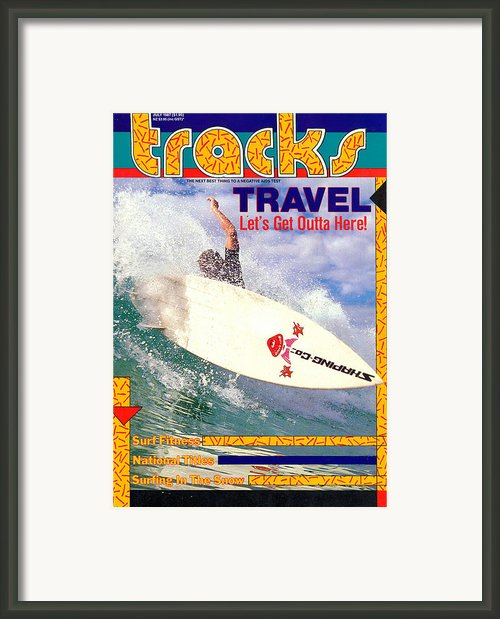 Tracks July 87 Cover Framed Print By Sean Davey