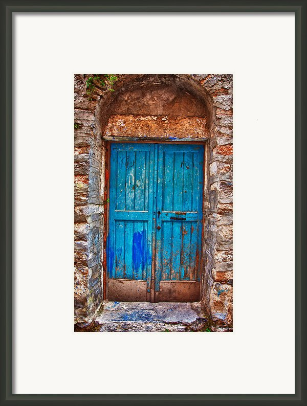 Traditional Door 2 Framed Print By Emmanouil Klimis