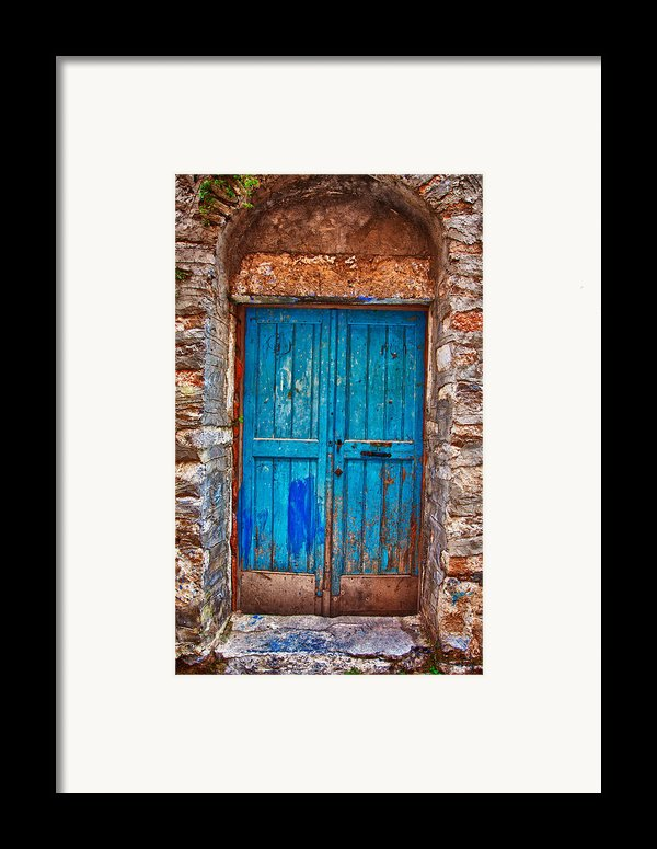 Traditional Door 2 Framed Print By Emmanouil Klimis