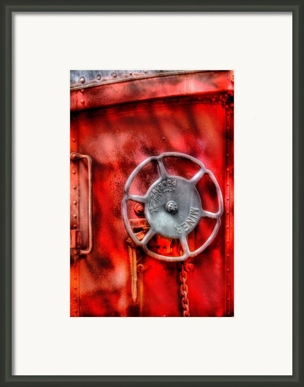 Train - Car - The Wheel Framed Print By Mike Savad