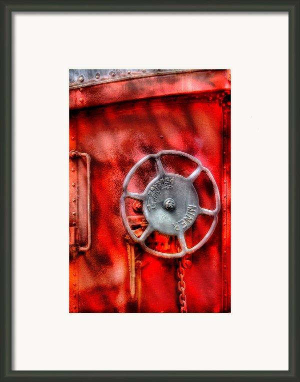 Train - Car - The Wheel Framed Print By Mike Savad