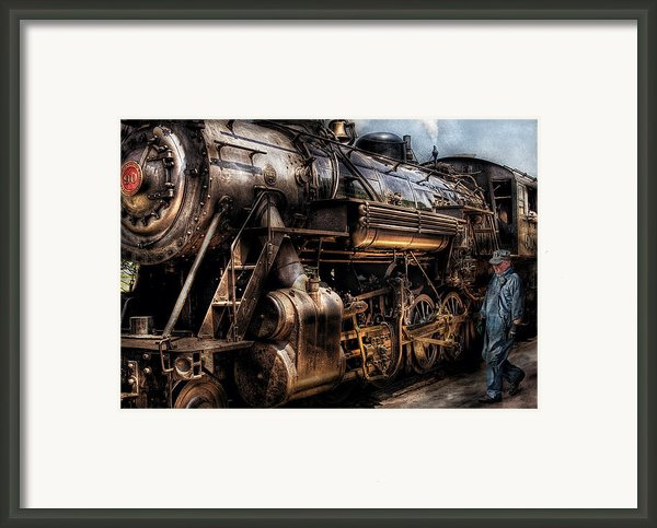 Train - Engine -  Now Boarding Framed Print By Mike Savad