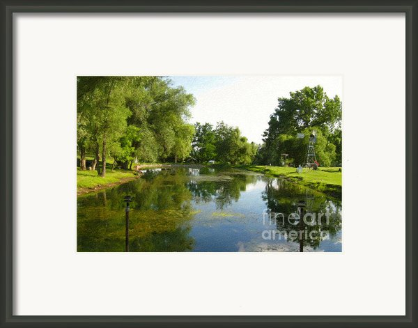 Tranquil - Digital Painting Effect Framed Print By Rhonda Barrett