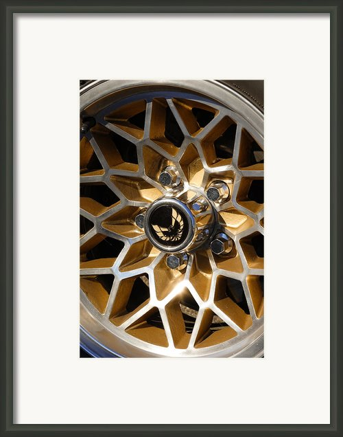 Trans-am Snowflake Wheel Framed Print By Gordon Dean Ii