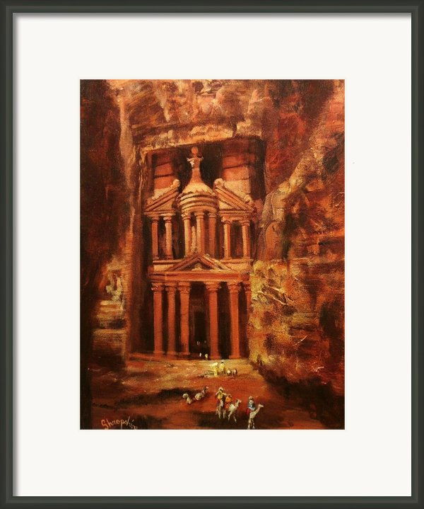 Treasury Of Petra Framed Print By Tom Shropshire