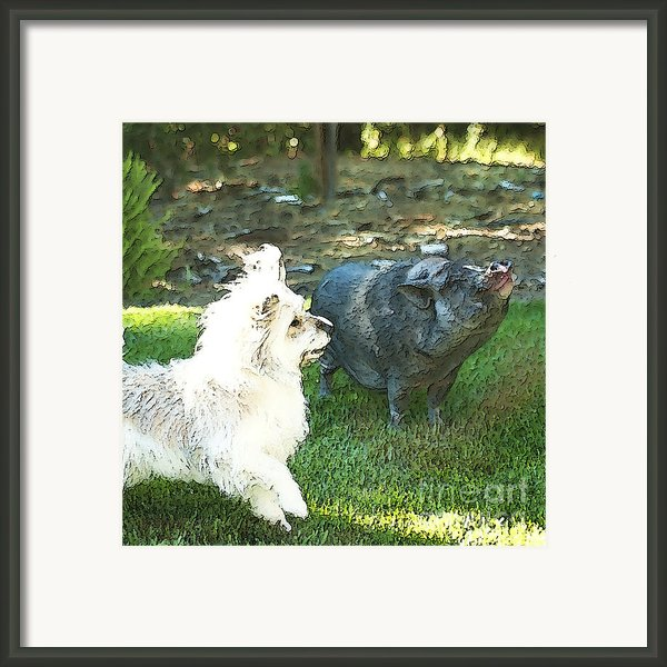 Treats For Woody And Schnitzel Framed Print By Artist And Photographer Laura Wrede