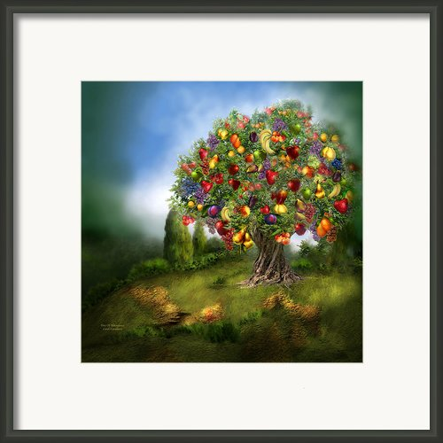 Tree Of Abundance Framed Print By Carol Cavalaris