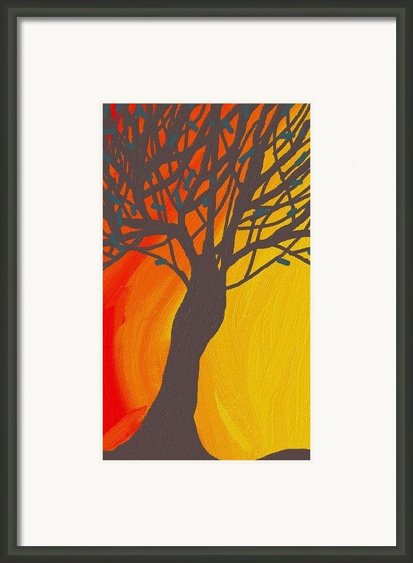 Tree On Fire Framed Print By Abstract Digital