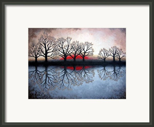Trees At Sunet Framed Print By Janet King