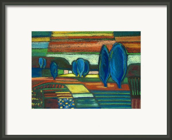 Trees Of Blue Framed Print By Gergana Valkova