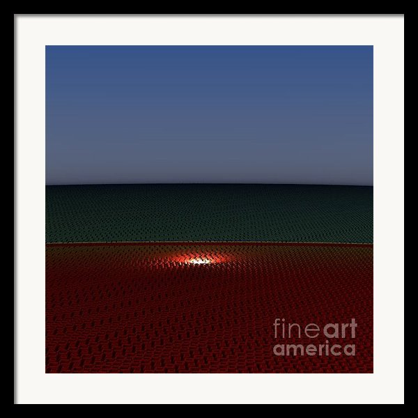 Tri Abstract Framed Print By Peter R Nicholls