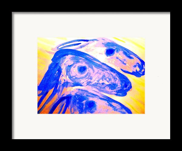Trolls Herd Running  Framed Print By Hilde Widerberg
