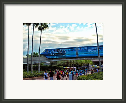 Tron Monorail At Walt Disney World Framed Print By Thomas Woolworth