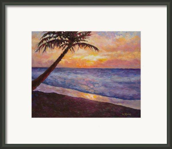 Tropical Interlude Framed Print By Eve  Wheeler