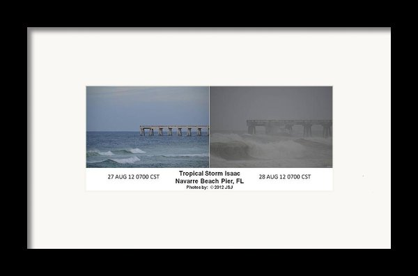Tropical Storm Isaac Difference In A Day Framed Print By Jeff At Jsj Photography