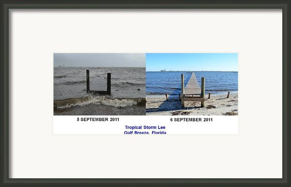 Tropical Storm Lee Difference A Day Makes Framed Print By Jeff At Jsj Photography