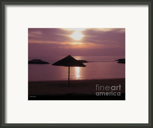Tropical Sunset Framed Print By Cheryl Young