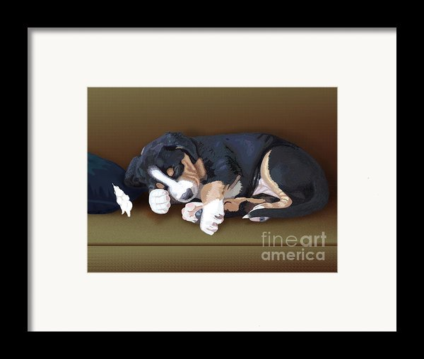 Trouble Framed Print By Jacqueline Barden