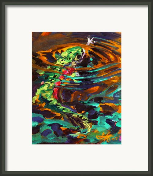 Trout And Fly Ii Framed Print By Mike Savlen