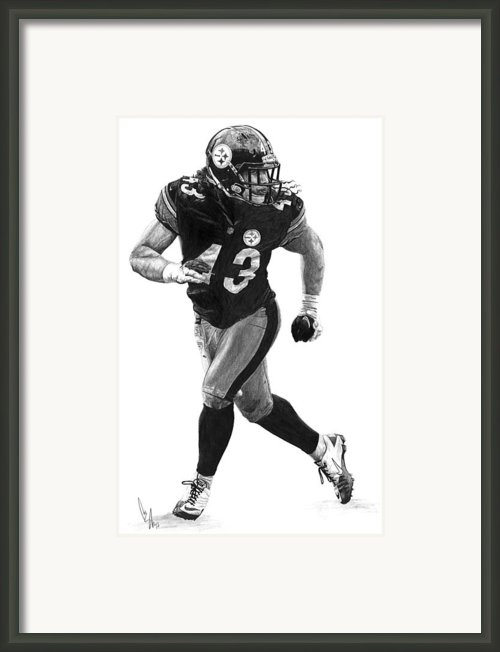 Troy Polamalu Framed Print By Bobby Shaw