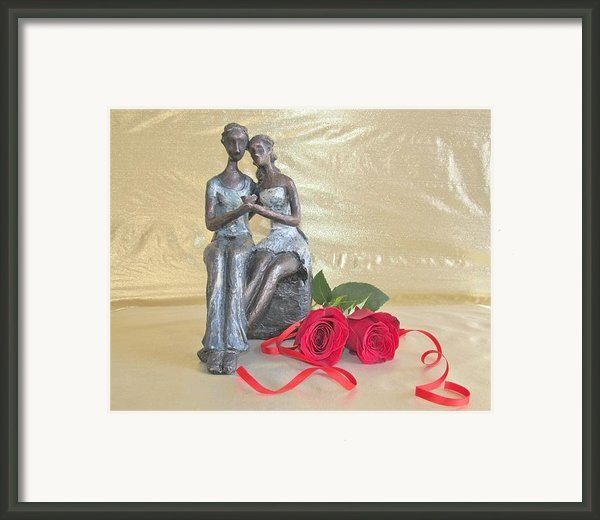 True Love In Gold Framed Print By Donna Wilson