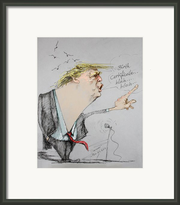 Trump In A Mission....much Ado About Nothing. Framed Print By Ylli Haruni