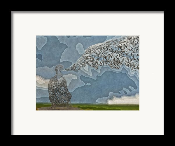 Trying To Find The Right Words Framed Print By Jack Zulli