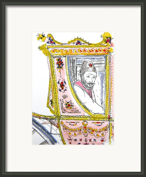 Tsar In Carriage Framed Print By Marwan George Khoury