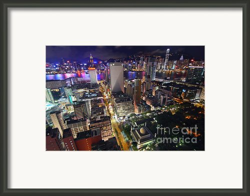 Tsim Sha Tsui In Hong Kong Framed Print By Lars Ruecker