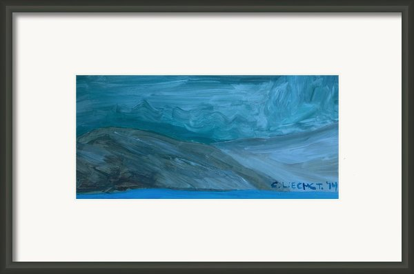 Turbulent Skies And A Glacier  Framed Print By Carolina Liechtenstein