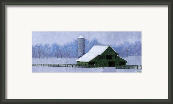 Turner Barn In Brentwood Framed Print By Janet King