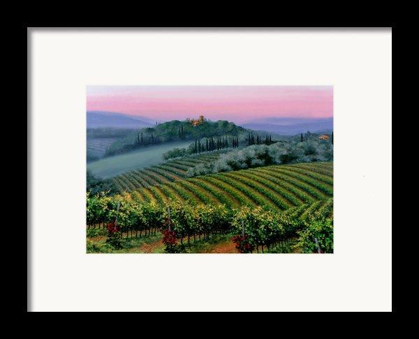 Tuscan Dusk Framed Print By Michael Swanson