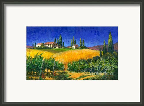 Tuscan Evening Framed Print By Michael Swanson