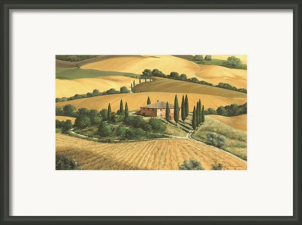 Tuscan Gold  Framed Print By Michael Swanson