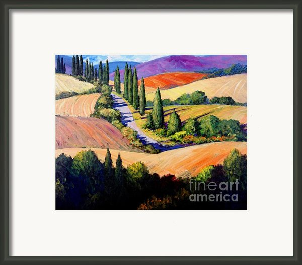 Tuscan Trail Framed Print By Michael Swanson