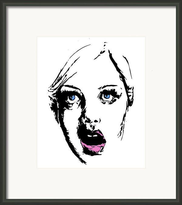 Twiggy Framed Print By Alexandra-emily Kokova