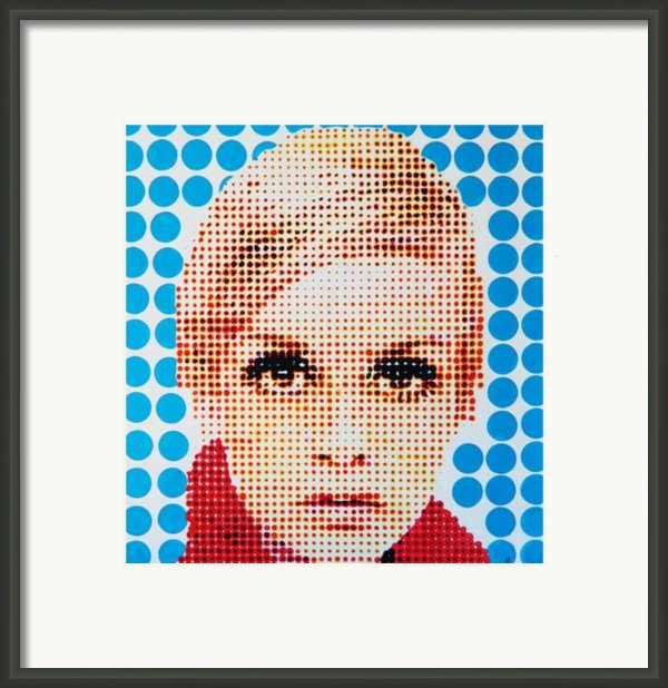 Twiggy Blue Dot  Framed Print By Grant  Swinney