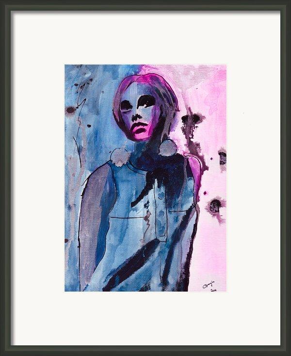 Twiggy Framed Print By Gracja Waniewska