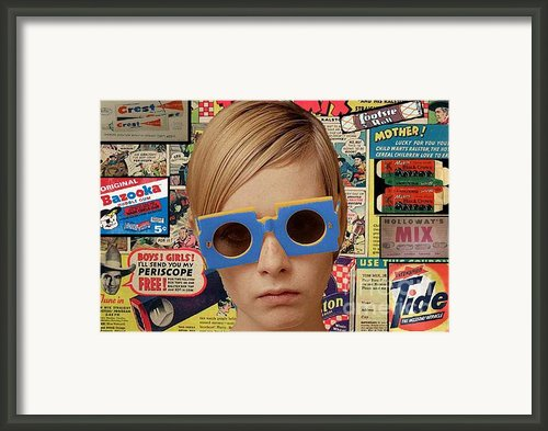 Twiggy Pop  Framed Print By Chandler  Douglas