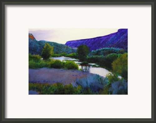 Twilight Taos Framed Print By Cap Pannell