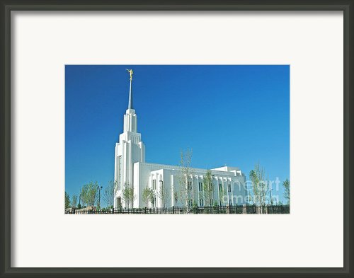 Twin Falls Idaho Lds Temple Framed Print By Nick  Boren