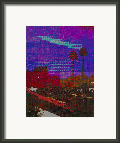 Twin Palms Purple Haze Framed Print By J Burns