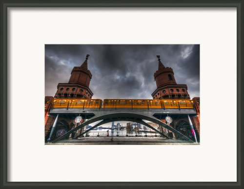 Twin Towers And A Train Framed Print By Nathan Wright