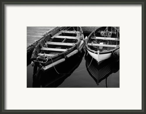 Two At Dock Framed Print By Karol  Livote