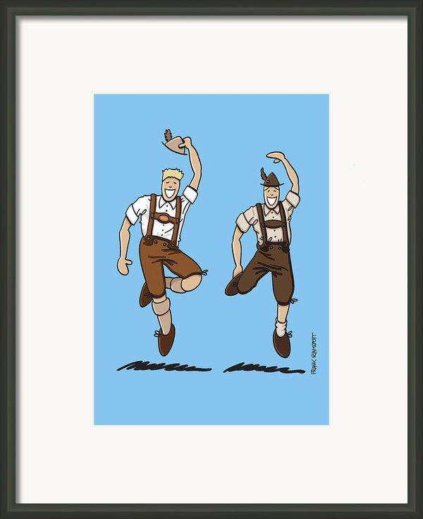 Two Bavarian Lederhosen Men Framed Print By Frank Ramspott