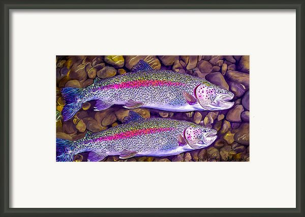 Two Beauties - Trout Framed Print By Laird Roberts