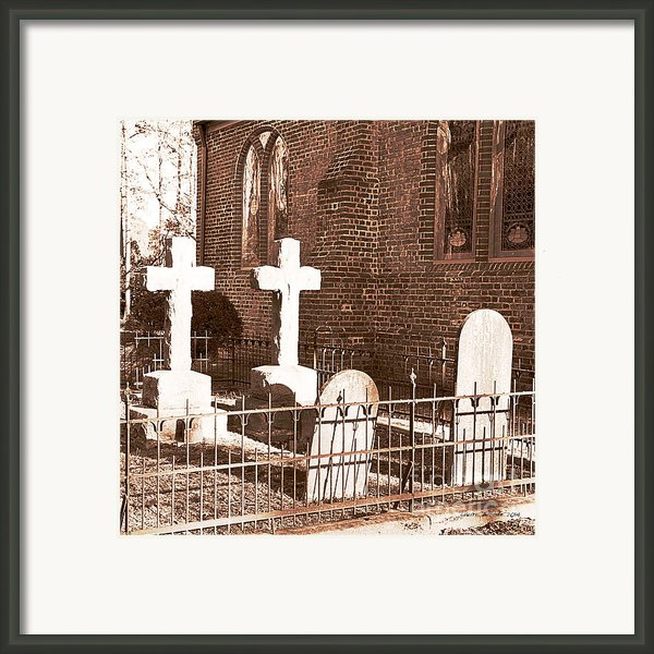 Two Crosses In Saint Lukes  Framed Print By Artist And Photographer Laura Wrede