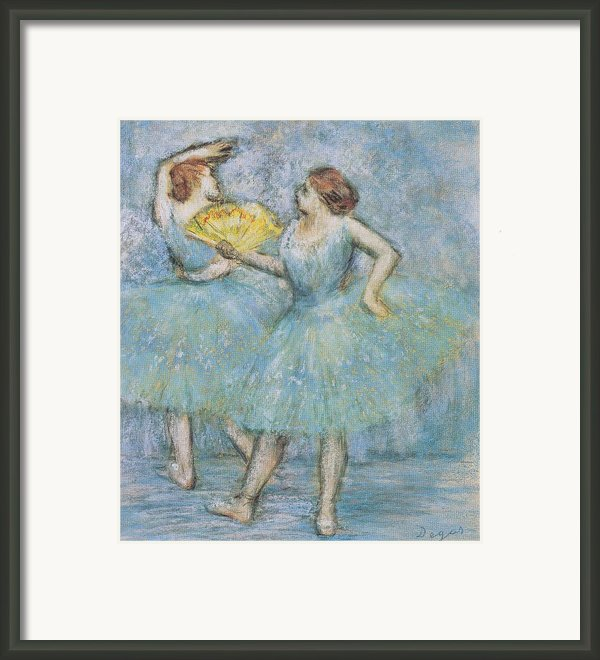 Two Dancers Framed Print By Nomad Art And  Design