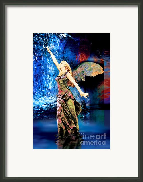 Two Divine Bodies In One  Framed Print By Nikos Smyrnios